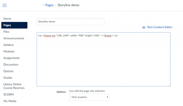 Viewing non-SCORM Articulate Storyline modules in an iFrame